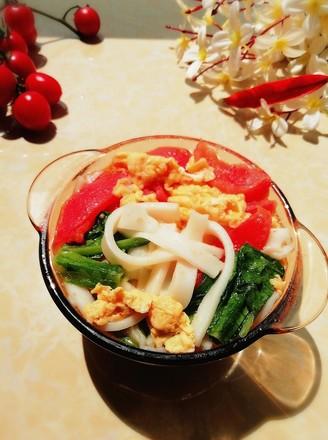 番茄鸡蛋汤粉的做法