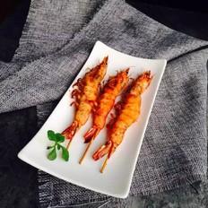 香辣胡椒烤大虾