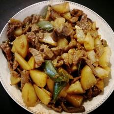 土豆茄子烧牛肉(少油)