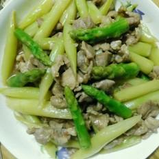芦笋炒瘦肉