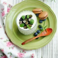 椰香蓝莓酸奶冻