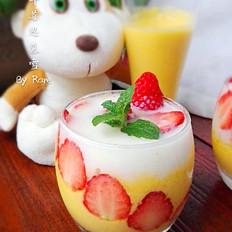 芒果草莓思慕雪(破壁机版)
