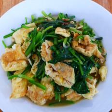 虾皮鸡蛋炒菠菜