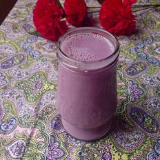紫薯黄豆浆