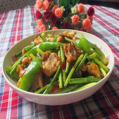 青椒蒜苔炒瘦肉