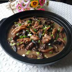 榛蘑炖鸭肉