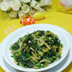 肉末榨菜炒莴笋叶