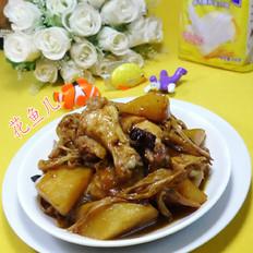黄花菜土豆鸡翅根