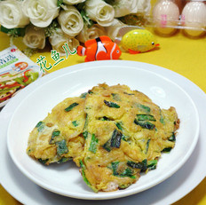 韭菜虾皮摊鸡蛋