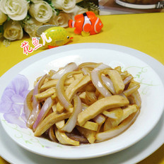 洋葱炒豆腐干