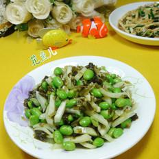 雪菜茭白炒毛豆