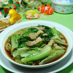 五花肉炒生菜