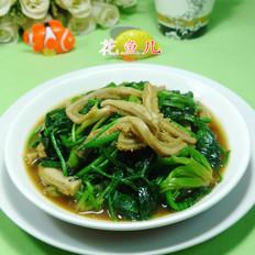 牛肚炒菠菜