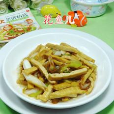 大葱炒豆腐干