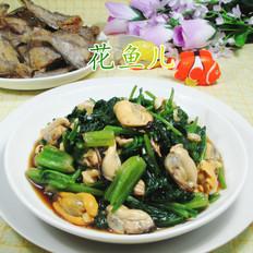 菠菜拌淡菜