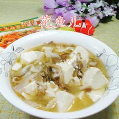 榨菜丝平菇煮豆腐