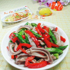 红椒芦笋炒猪肚