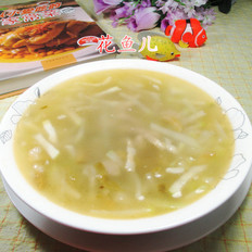 榨菜丝肉丝蒲瓜汤