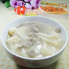 鸭肝花菜羹
