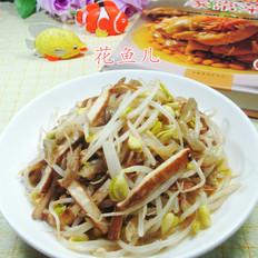 榨菜丝香干炒黄豆芽