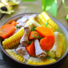 玉米排骨胡萝卜汤