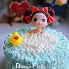 娃娃洗澡蛋糕