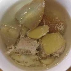 雪梨百合川贝瘦肉汤