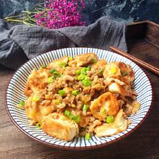 葱香肉末炒豆腐#午餐#
