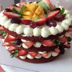 红丝绒裸蛋糕