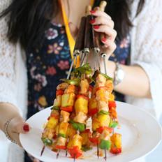 夏威夷风情鸡肉串