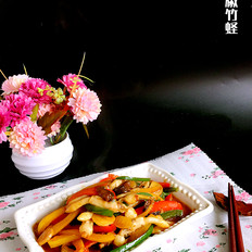 彩椒竹蛏的做法大全