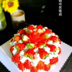 草莓奶油抹茶蛋糕
