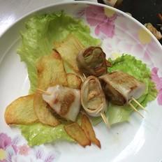 杏鲍菇黄瓜鱼肉肠卷