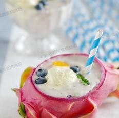 火龙果冰淇淋奶昔的做法大全