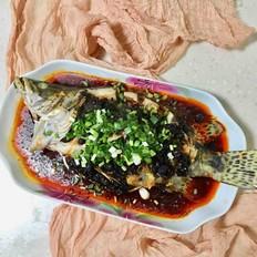 清蒸豆鼓桂鱼