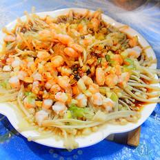 虾仁蒸金针菇