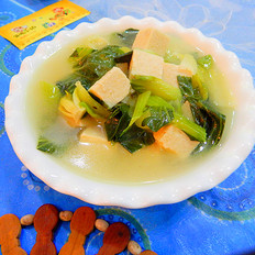 小青菜豆腐汤