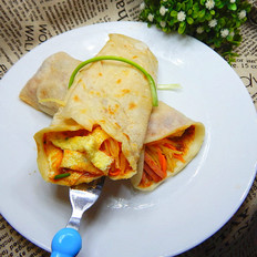 土豆蛋皮卷饼