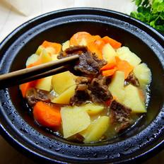 土豆胡萝卜炖牛键