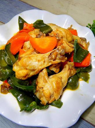 菜椒烧鸡腿的做法