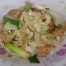 油豆腐卷心菜
