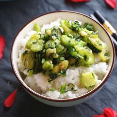 雪菜炒蚕豆瓣