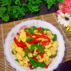 双椒炒鸡蛋