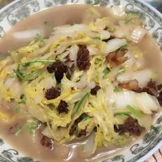 白菜热炒海蜇头