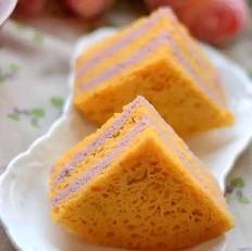 南瓜紫薯发糕