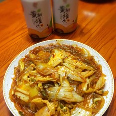 酸辣白菜烩鲜粉