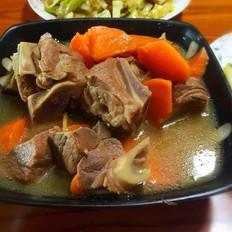 清炖羊腿肉