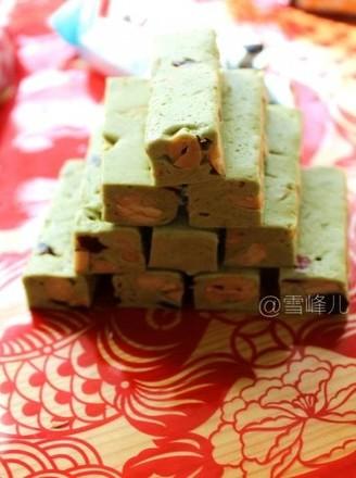 抹茶牛轧糖的做法