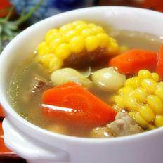 甜玉米白果排骨汤
