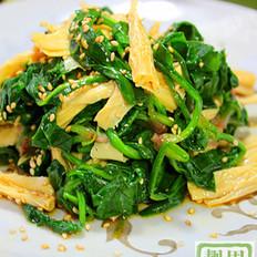 菠菜拌腐竹